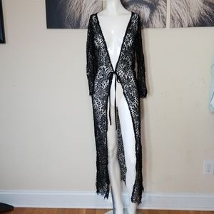 💎NWT HIGHNESS LACE LONG CARDIGAN/ROBE